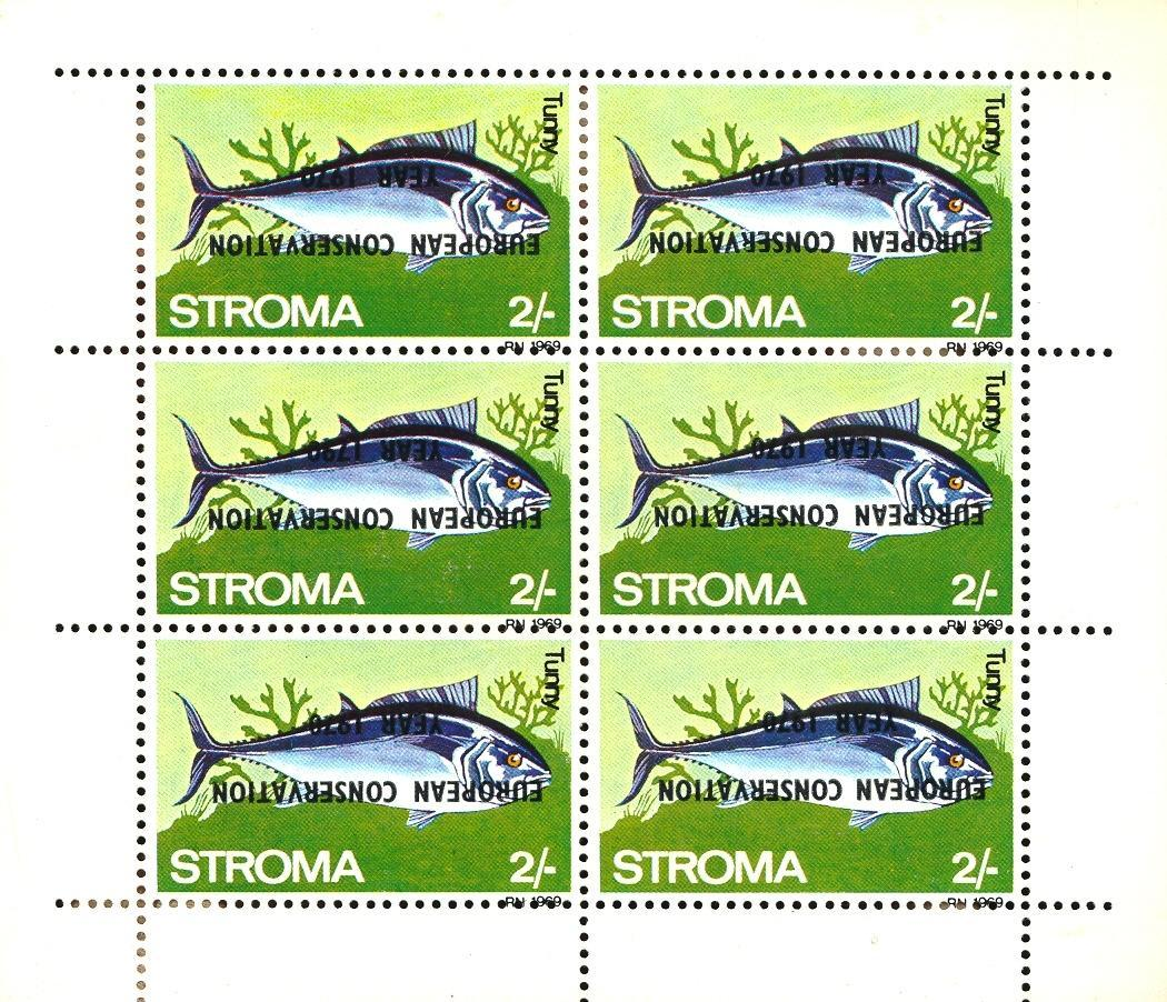 Stamps with Fish, Nature Preservation from  (image for product #032897)