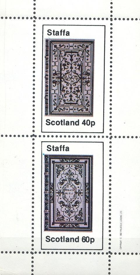 Stamps with Manuscript from Staffa (non official) (image for product #032930)