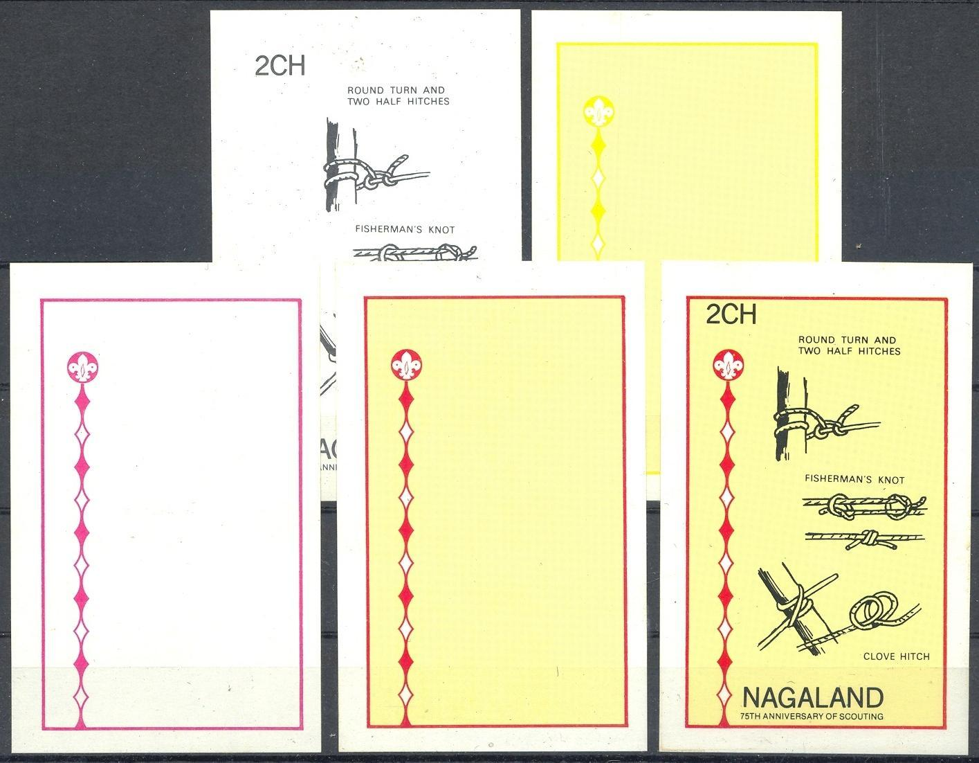 Stamps with Scouting from Nagaland (non official) (image for product #032973)