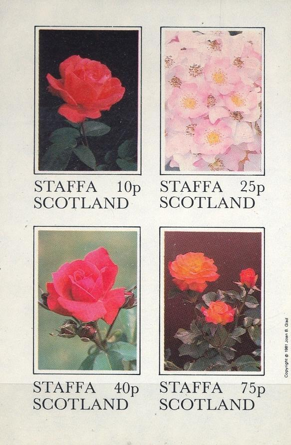 Stamps with Flowers, Roses from Staffa (non official) (image for product #033024)