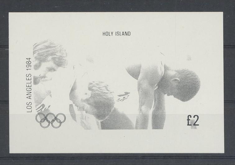 Stamps with Athletics, Olympic Games from Eynhallow (non official) (image for product #033027)