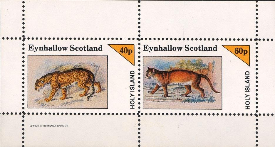 Stamps with Cat-like, Leopard from Eynhallow (non official) (image for product #033029)