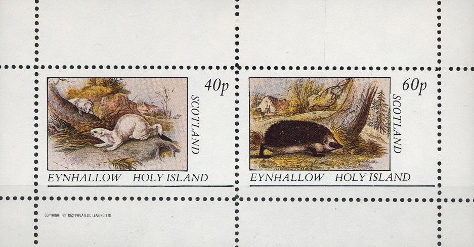 Stamps with Hedgehog from Eynhallow (non official) (image for product #033042)
