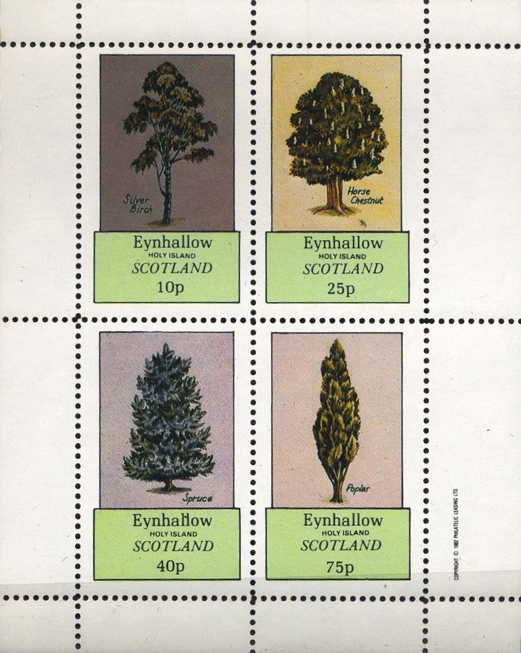 Stamps with Tree from Eynhallow (non official) (image for product #033069)