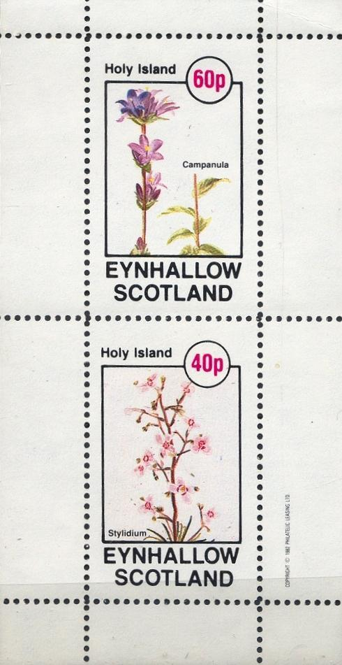 Stamps with Flowers from Eynhallow (non official) (image for product #033071)