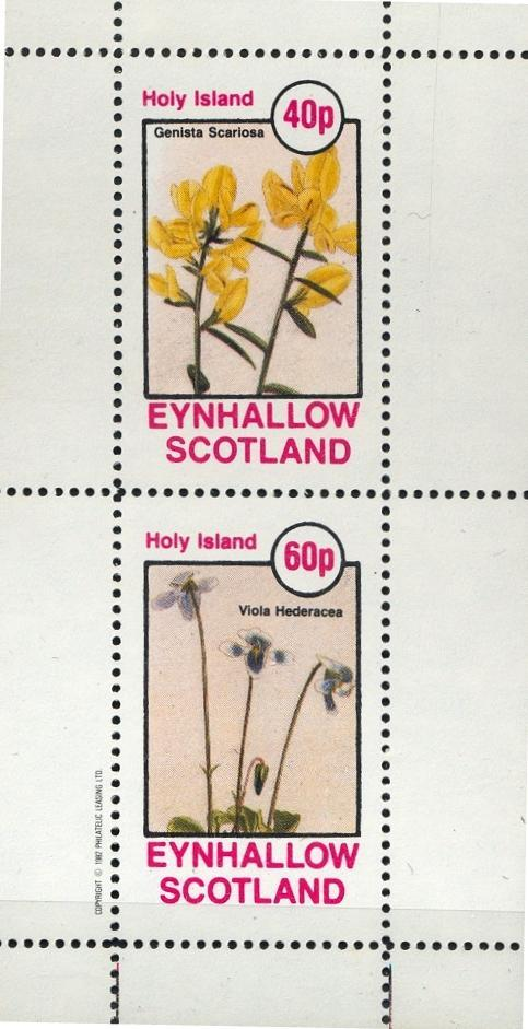 Stamps with Flowers from Eynhallow (non official) (image for product #033078)