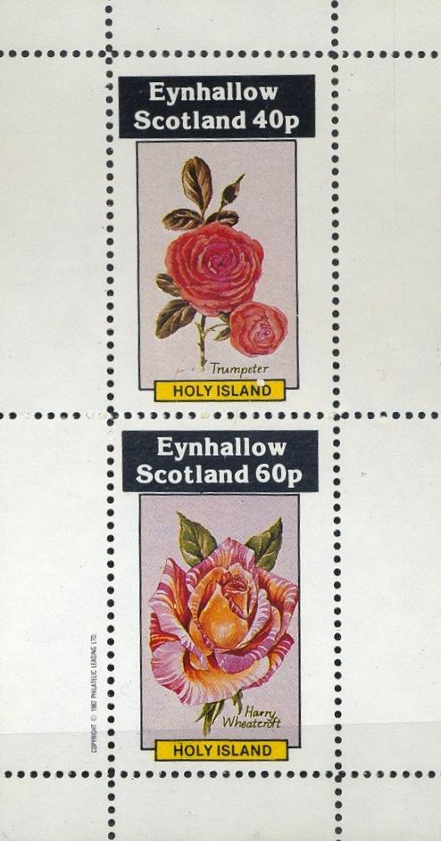 Stamps with Flowers, Roses from Eynhallow (non official) (image for product #033079)