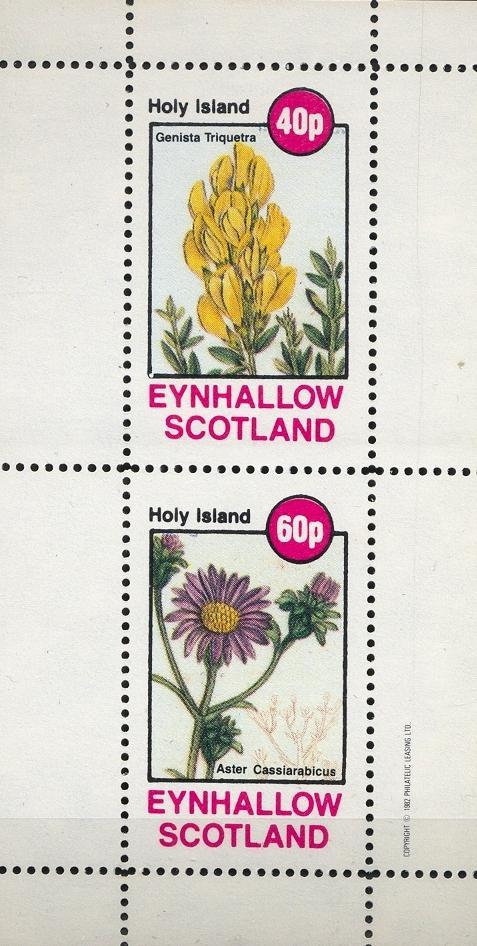 Stamps with Flowers, Roses from Eynhallow (non official) (image for product #033080)