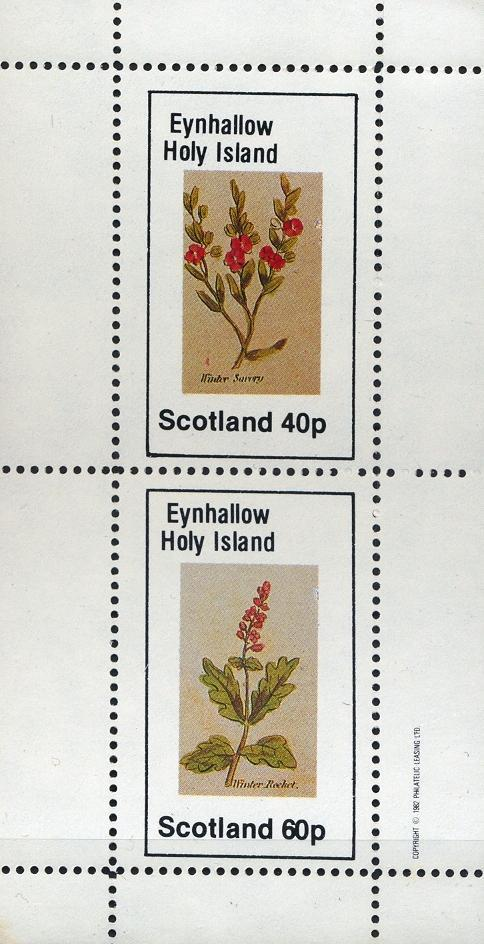 Stamps with Flowers from Eynhallow (non official) (image for product #033083)