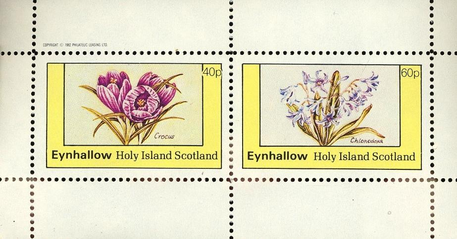 Stamps with Flowers from Eynhallow (non official) (image for product #033085)