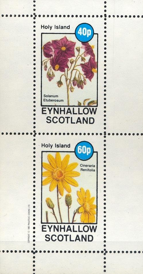 Stamps with Flowers from Eynhallow (non official) (image for product #033086)