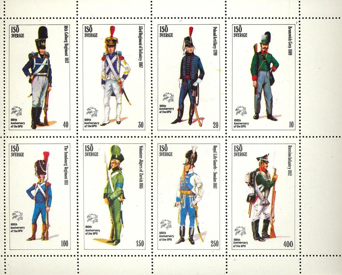 Stamps with Uniform, UPU from  (image for product #033091)