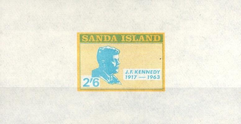 Stamps with Kennedy from Sanda Island (non official) (image for product #033096)