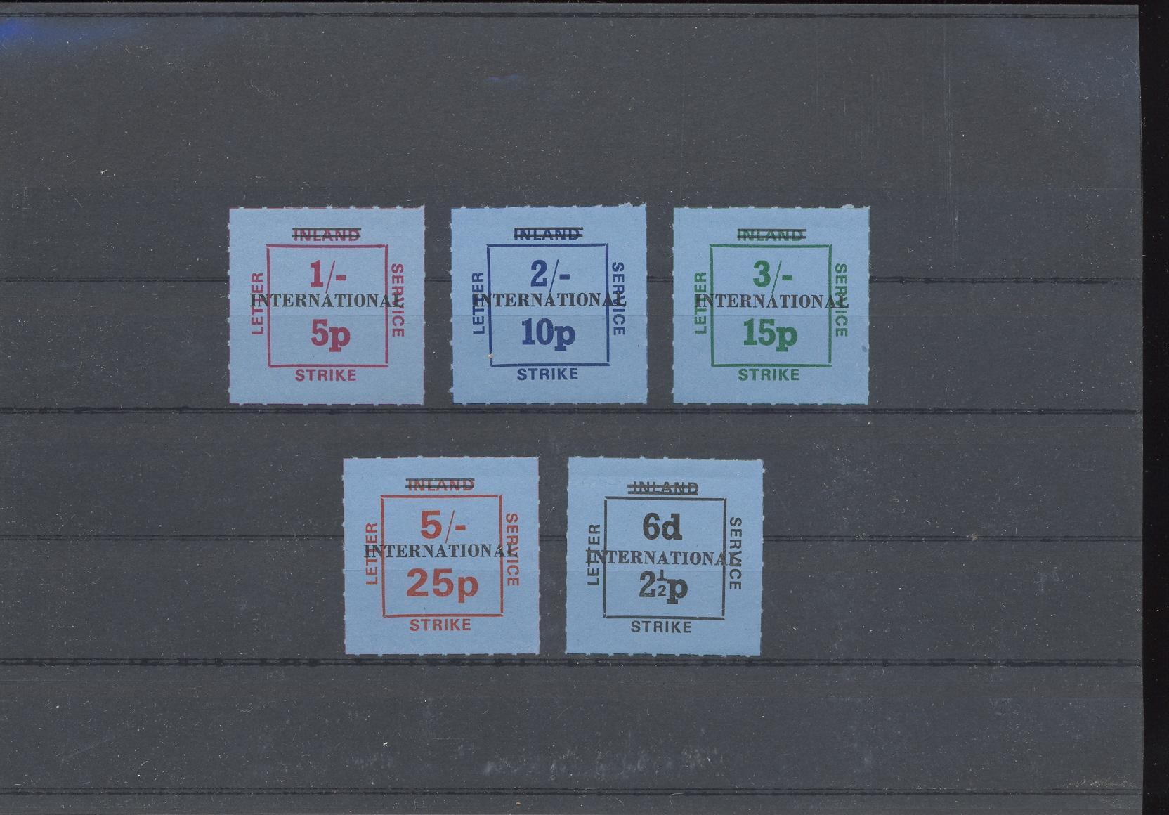 Stamps with Strike Post from United Kingdom (image for product #033106)