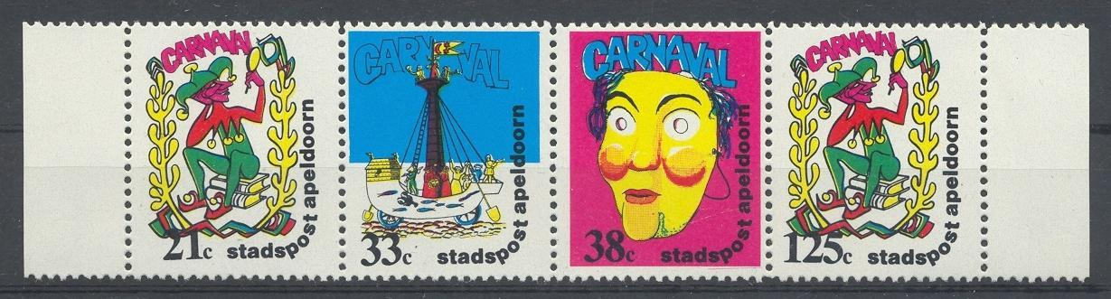 Stamps with Folklore / Fables, Carnival from Netherlands (image for product #033109)