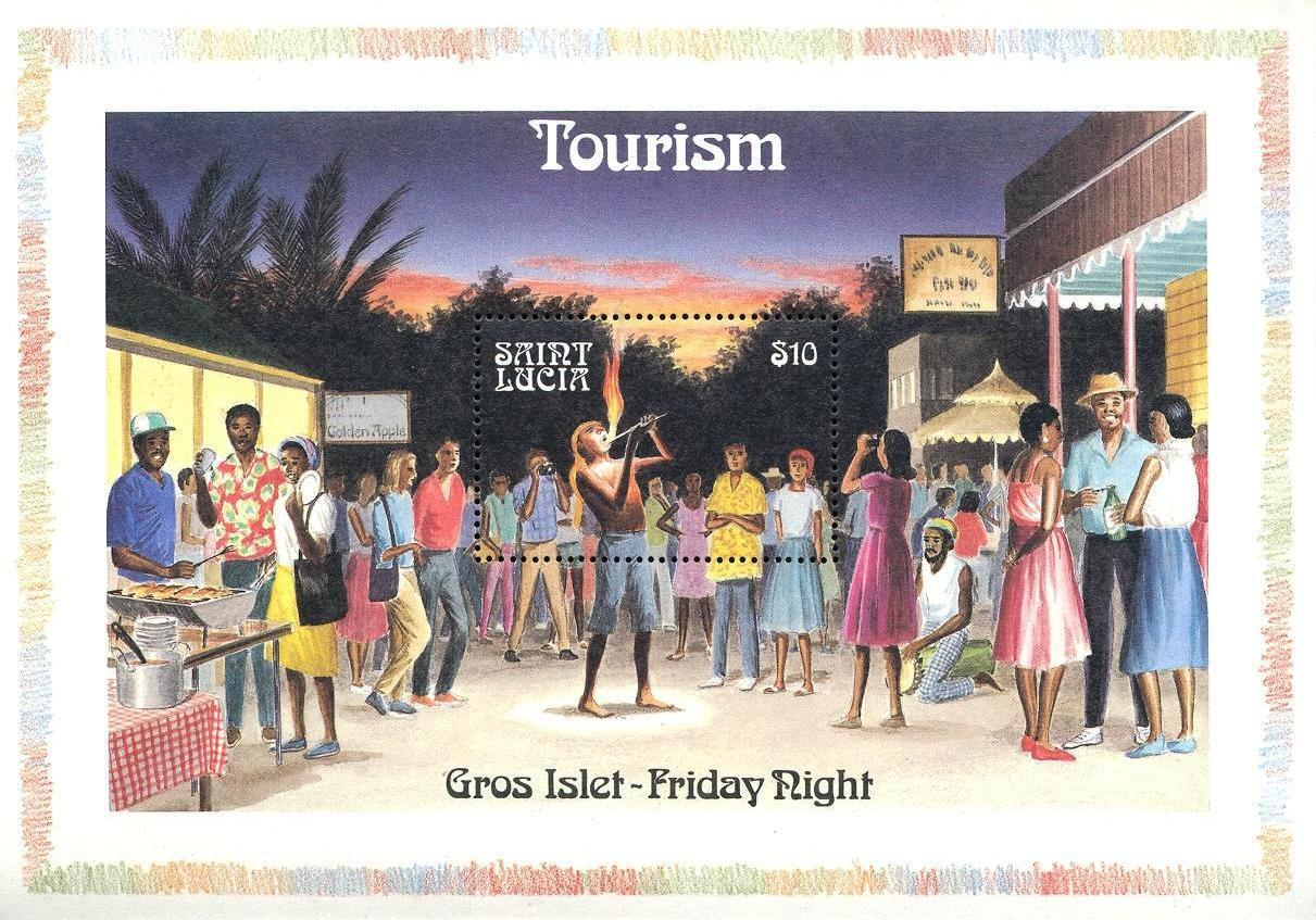 Stamps with Tourism from St. Lucia (image for product #033115)