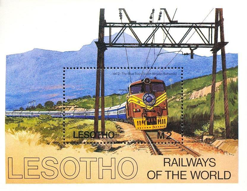 Stamps with Train / Railway from Lesotho (image for product #033118)