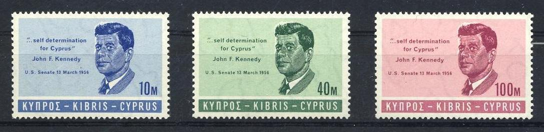 Stamps with Kennedy from Cyprus (image for product #033133)