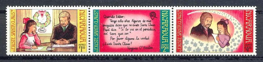 Stamps with Christmas from Nicaragua (image for product #033134)