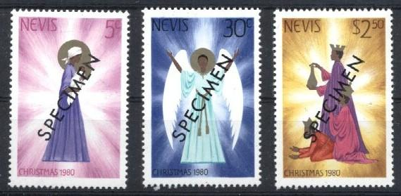 Stamps with Christmas from Nevis (image for product #033213)