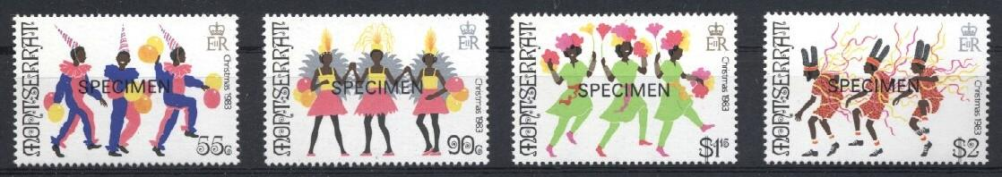 Stamps with Folklore / Fables, Christmas from Montserrat (image for product #033219)