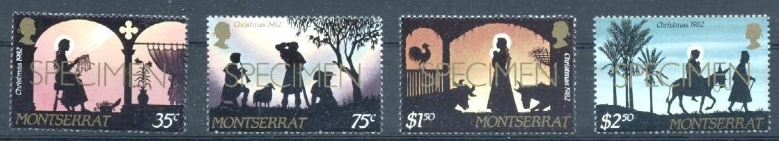 Stamps with Christmas from Montserrat (image for product #033228)
