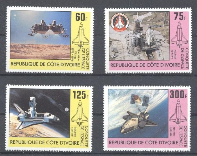 Stamps with Space from Cote d'Ivoire (image for product #033349)