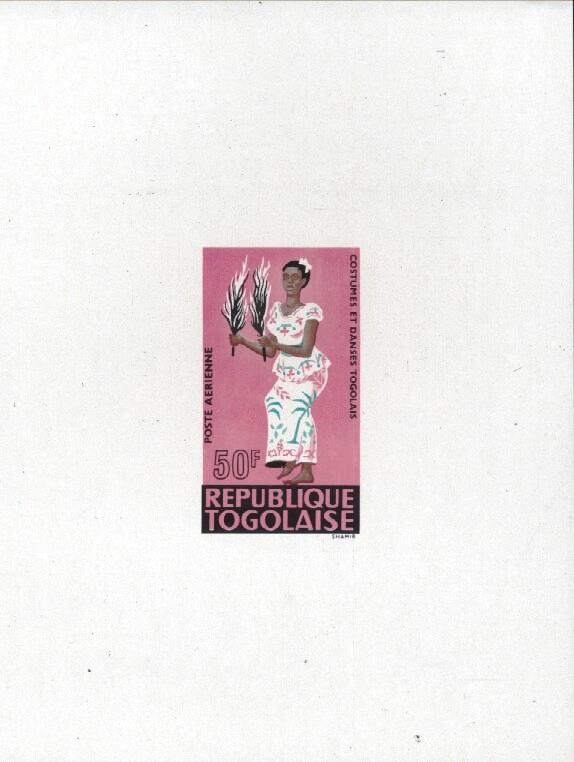 Stamps with Dance, Costumes from Togo (image for product #033388)