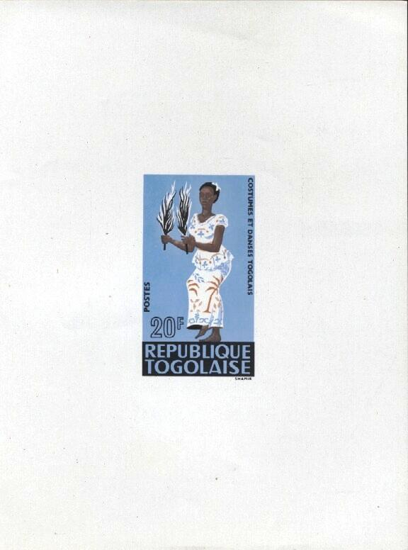 Stamps with Costumes, Dance from Togo (image for product #033391)
