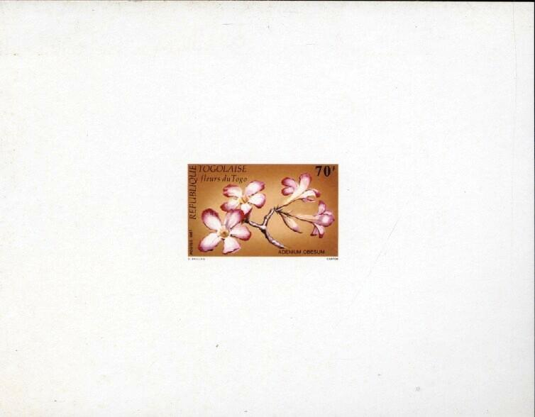 Stamps with Flowers from Togo (image for product #033407)