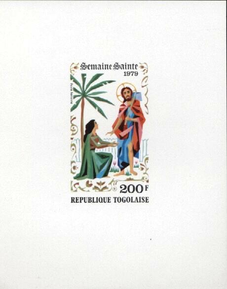 Stamps with Easter, Religion from Togo (image for product #033410)