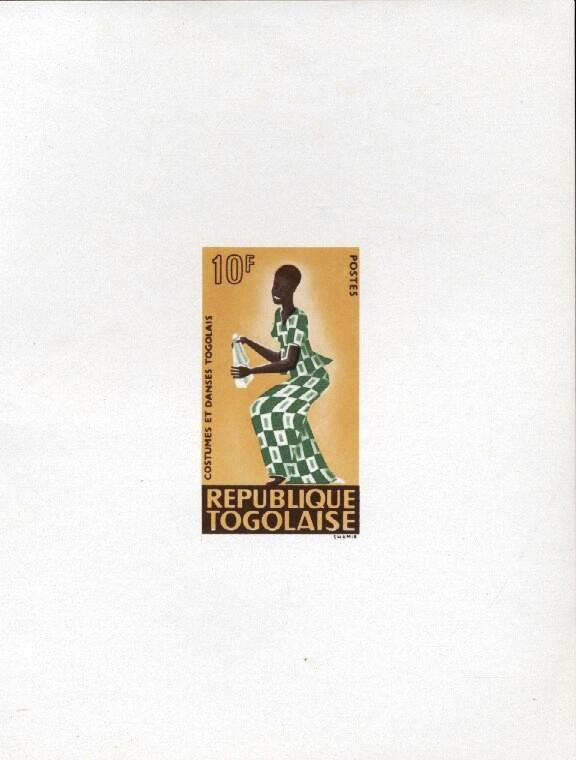 Stamps with Costumes, Dance from Togo (image for product #033417)