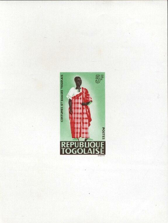 Stamps with Costumes, Dance from Togo (image for product #033418)