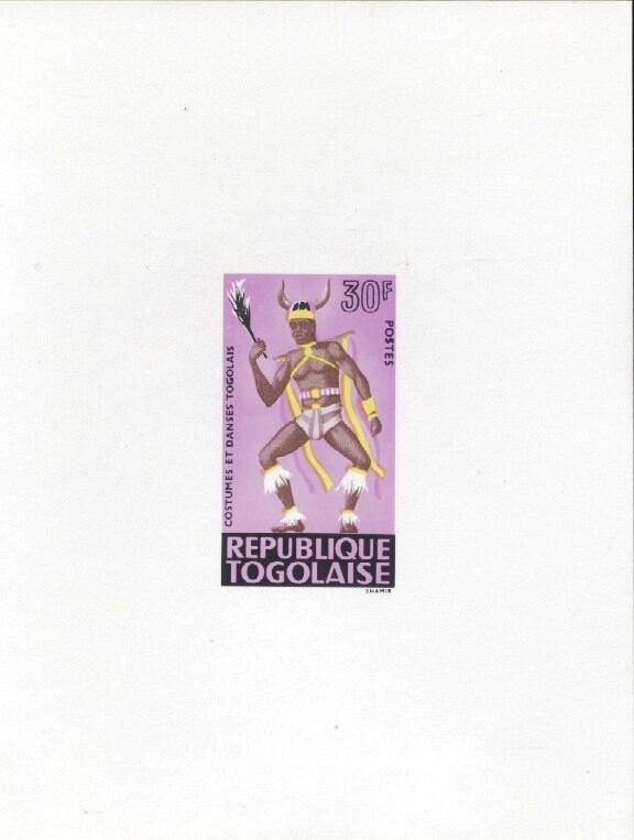 Stamps with Costumes, Dance from Togo (image for product #033420)