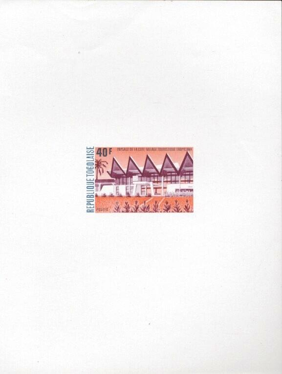 Stamps with Buildings from Togo (image for product #033428)