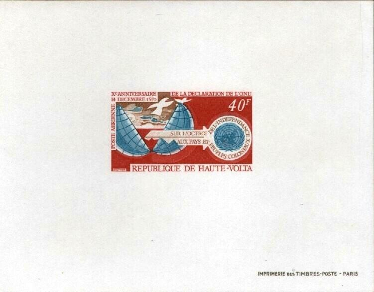Stamps with Bird, Key from Haute-Volta (image for product #033430)