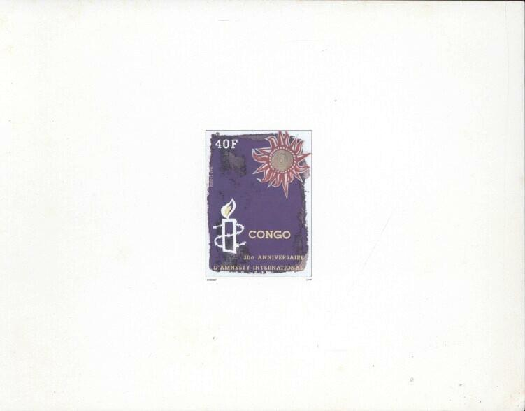 Stamps with Amnesty International from Congo (image for product #033452)