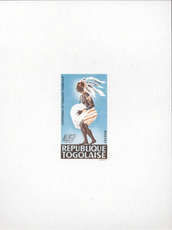 Stamps with Costumes, Dance from Togo (image for product #033460)