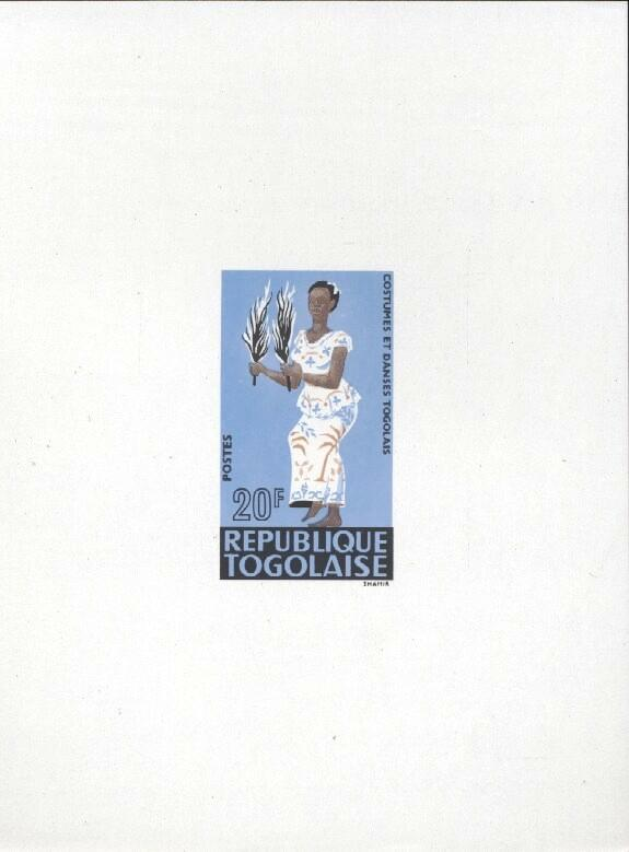 Stamps with Costumes, Dance from Togo (image for product #033462)