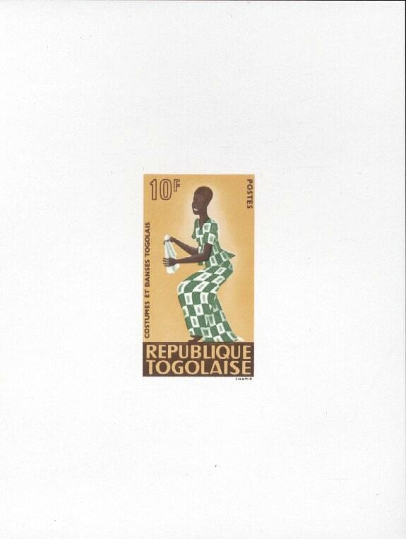Stamps with Costumes, Dance from Togo (image for product #033464)