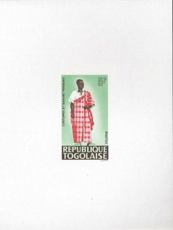 Stamps with Costumes, Dance from Togo (image for product #033465)