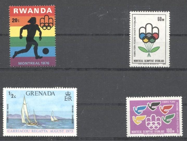 Stamps with Olympic Games, Sailing from World (image for product #033731)