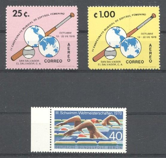 Stamps with Baseball from World (image for product #033735)
