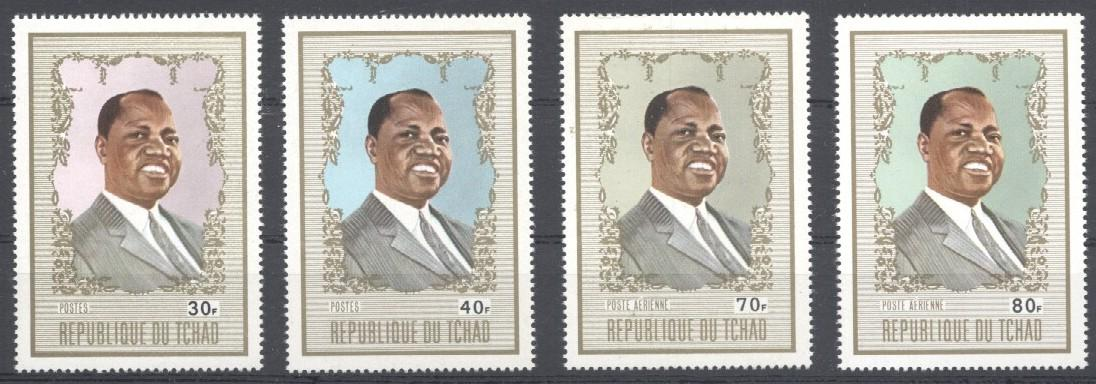 Stamps with President from Chad (image for product #033839)