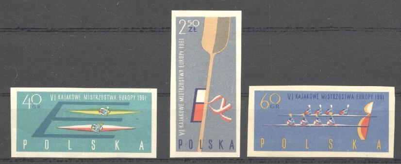 Stamps with Rowing from Poland (image for product #033975)