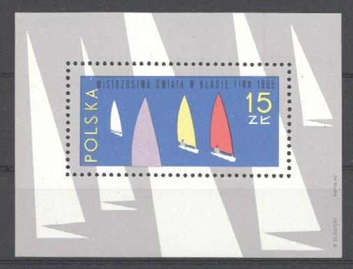 Stamps with Olympic Games, Sailing from Poland (image for product #033995)