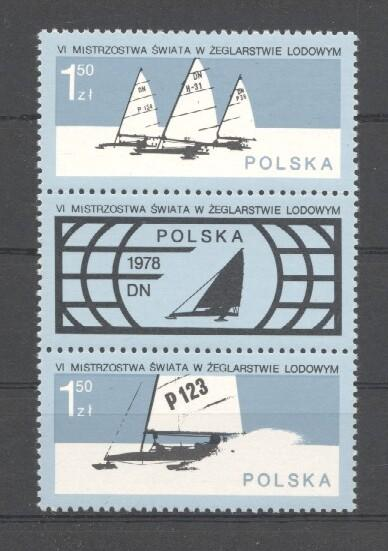 Stamps with Olympic Games, Sailing from Poland (image for product #033996)