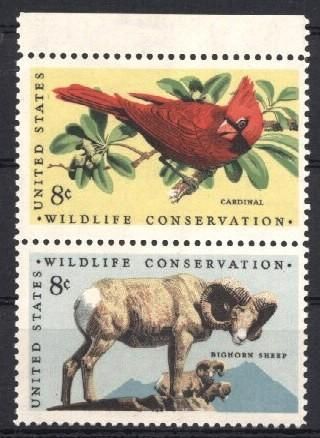 Stamps with Bird, Sheep from USA (United States) (image for product #034183)