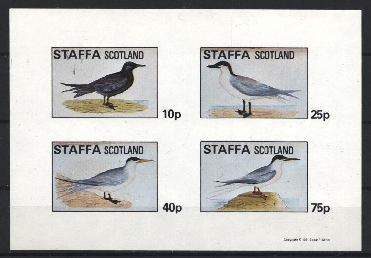 Stamps with Bird from Staffa (non official) (image for product #034187)
