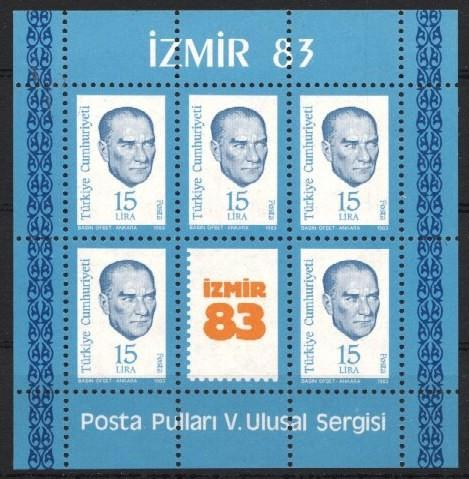 Stamps with Philatelic Exhibition, Ataturk from Turkey (image for product #034200)
